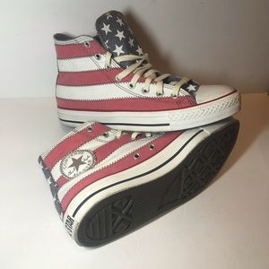 Converse American flag 8.5 mid shoes